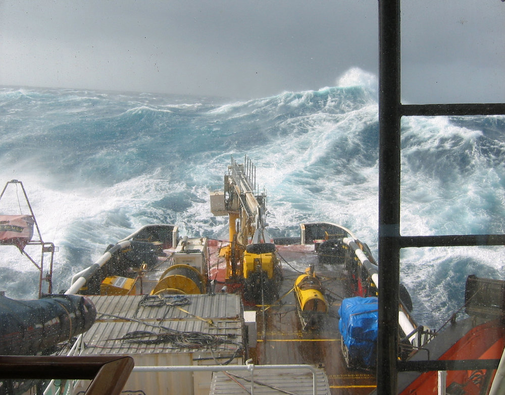 Deep tow vehicle search and filming expedition for ARA Belgrano around the smooth seas of Cape Horn.