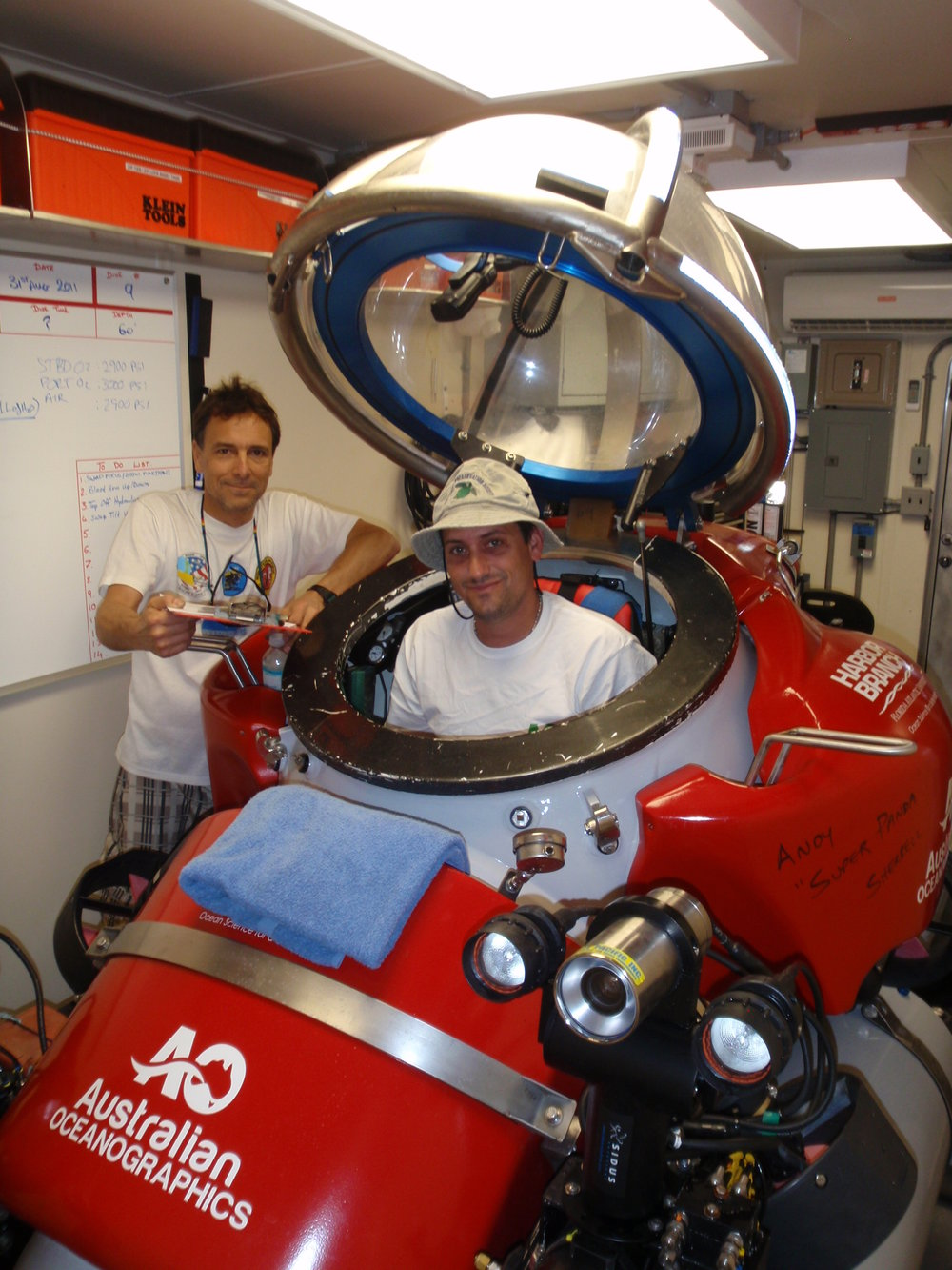 HBOI@FAU with Australian Oceanographics assisted refit and sea trials of two single person Deep Worker submersibles.