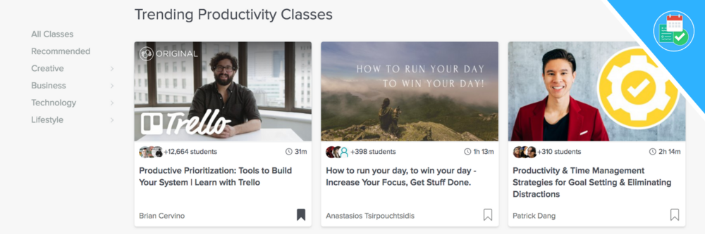 Top 5 Best Productivity Skillshare Classes — Keep Productive