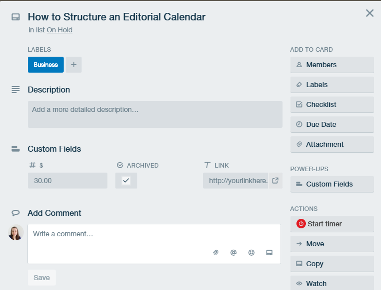 Different ways to use Trello Custom Fields