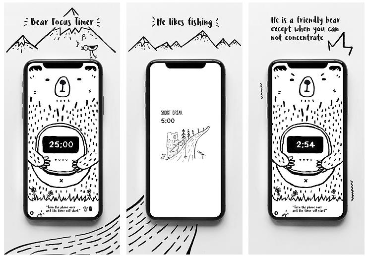Bear Focus Timer Pomodoro Timer App - Best to Try