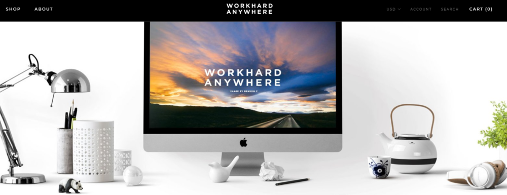 work hard anywhere wallpapers - best coworking apps
