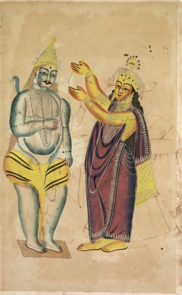Parvati drapes a wedding garland around Shiva's neck in this work from from the Collection of the Cleveland Museum of Art