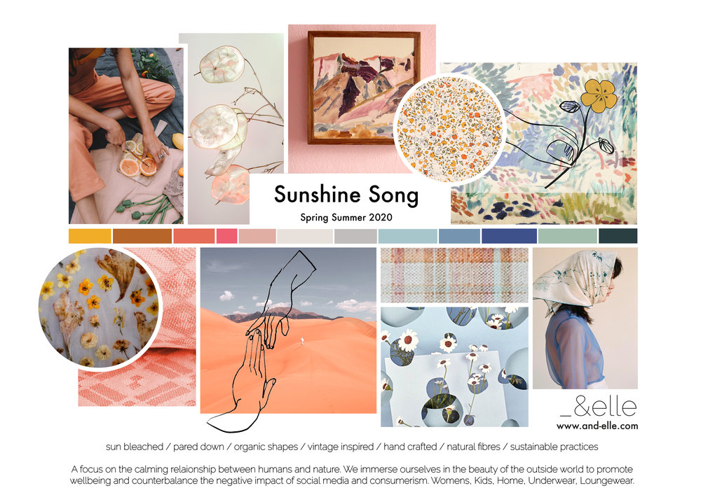 Concept Board Sunshine Song And Elle