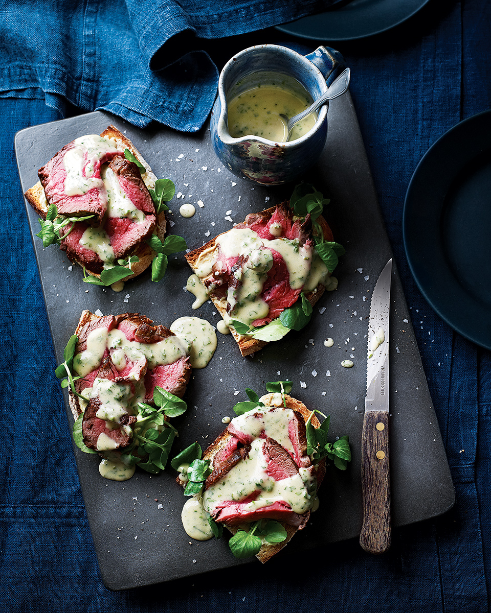 Beef fillet sandwiches with madeira bearnaise