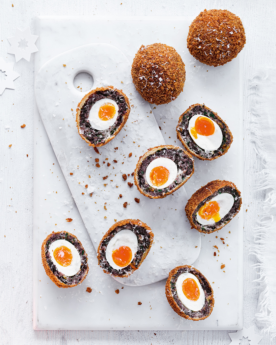 Morcilla Scotch eggs