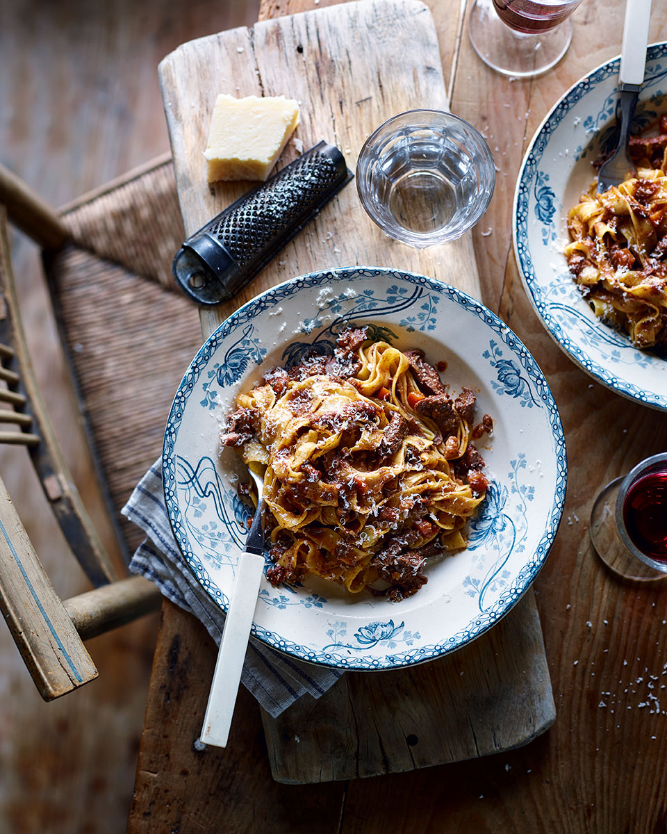 Venison ragu and tagliatelle