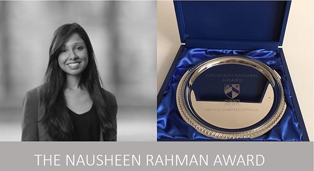Today we introduced the Nausheen Rahman award in memory of our colleague that sadly passed away last December. This award will go to the most charitable person throughout the year and this will be awarded annually ❤️