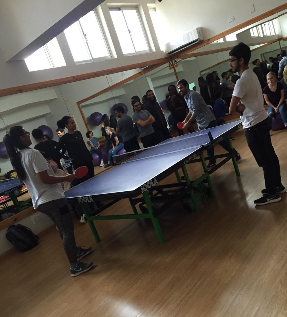 Photo from our table tennis event