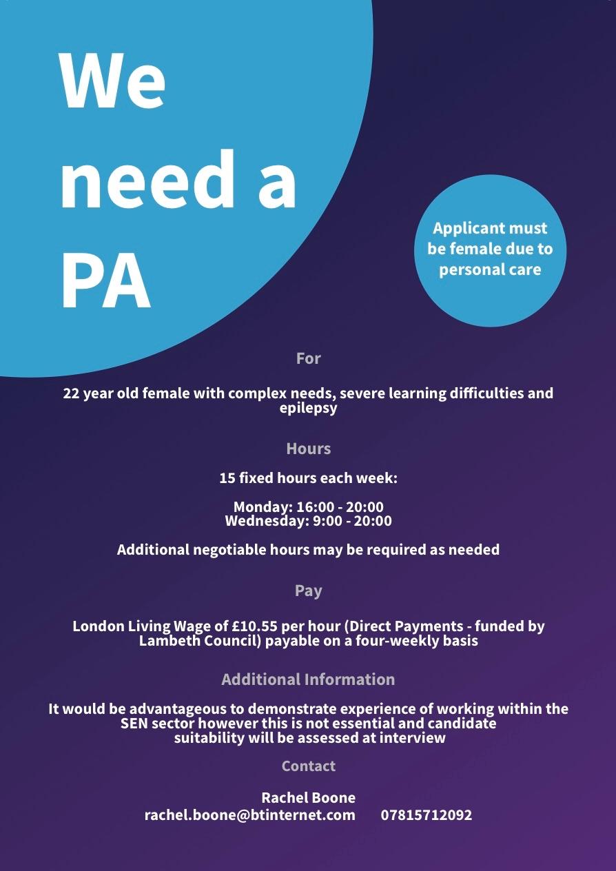 Part-Time Student Job Opportunity — BLSA