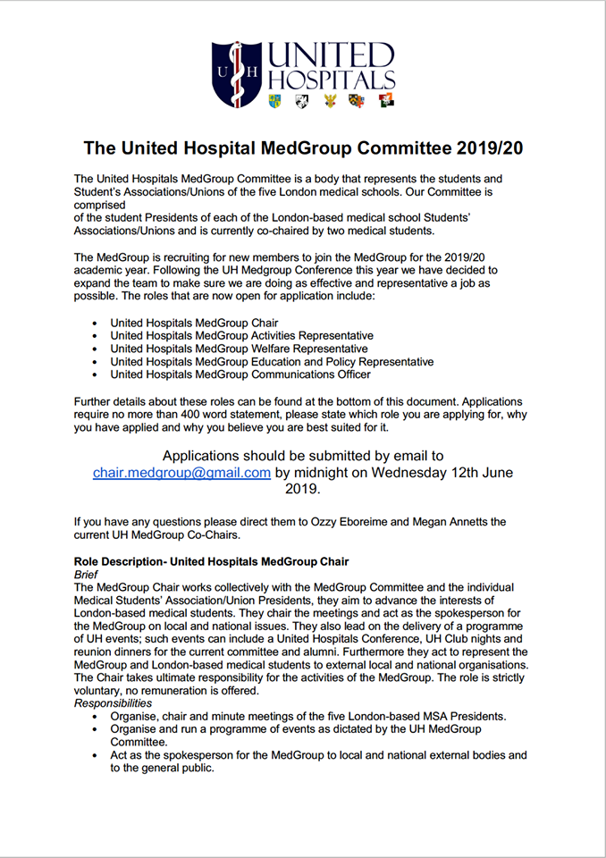 Apply to join the United Hospitals MedGroup Committee — BLSA