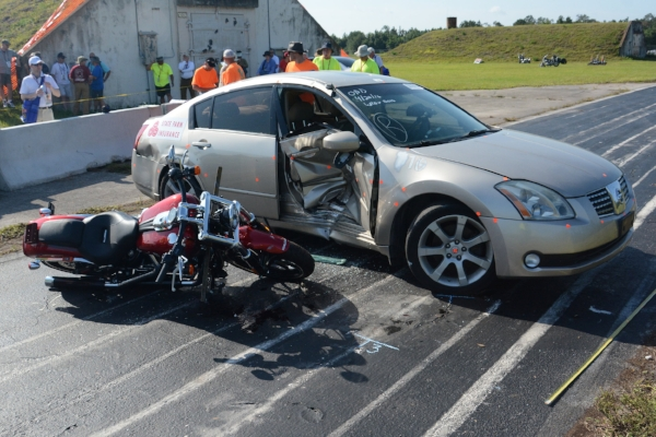 Determining Motorcycle Speed from the Struck Vehicle Translation and ...