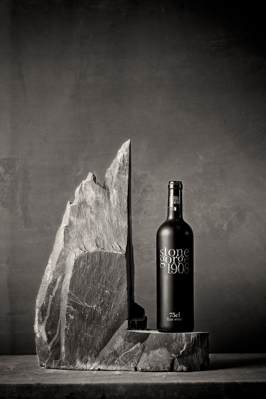 Welsh Slate 'Ledge Style slate wine rack