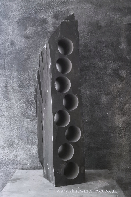 Tall, slender slate wine rack