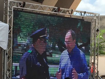 Jeff speaks to Dallas Police at the 2017 Mega-March rally supporting minority communities.