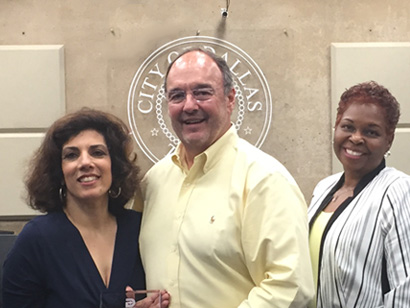 Jeff is commemorated for his service on the City of Dallas, Civil Service Board.  The award presented by Board Chair, Anita Childress is recognizing six years of community service on behalf of Dallas City Council Member, Philip Kingston.