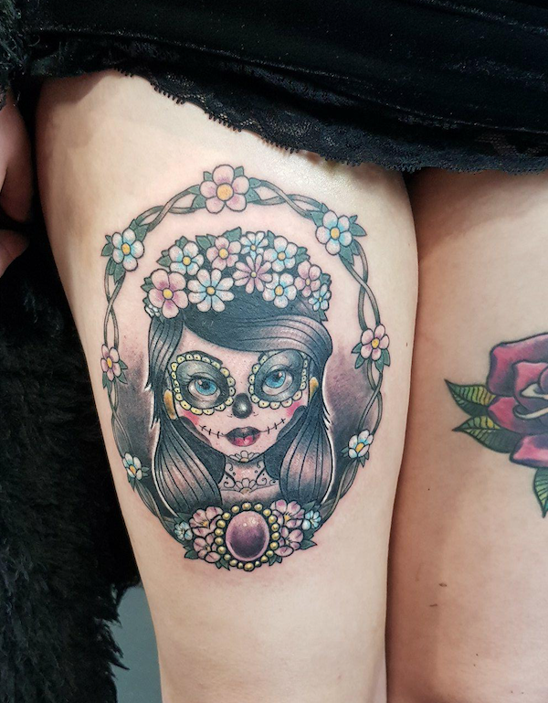 Chloe sugar skull close up.png