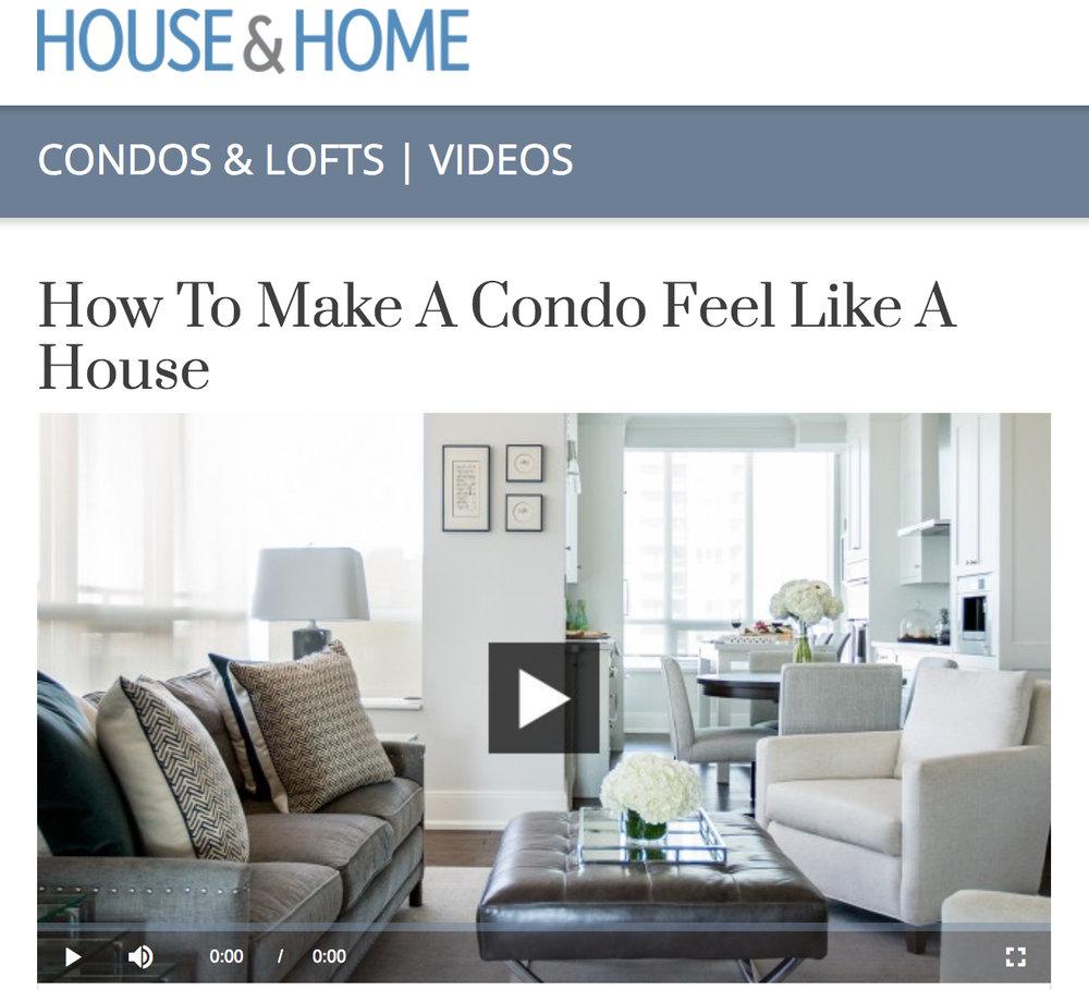 House & Home  How To Make A Condo Feel Like A House