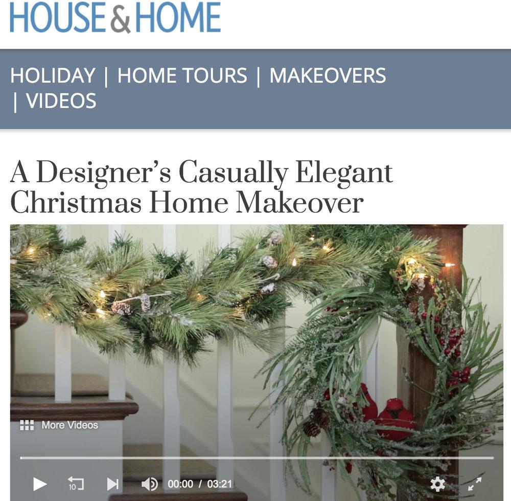 House & Home  A Designer's Casually Elegant Christmas Home Makeover