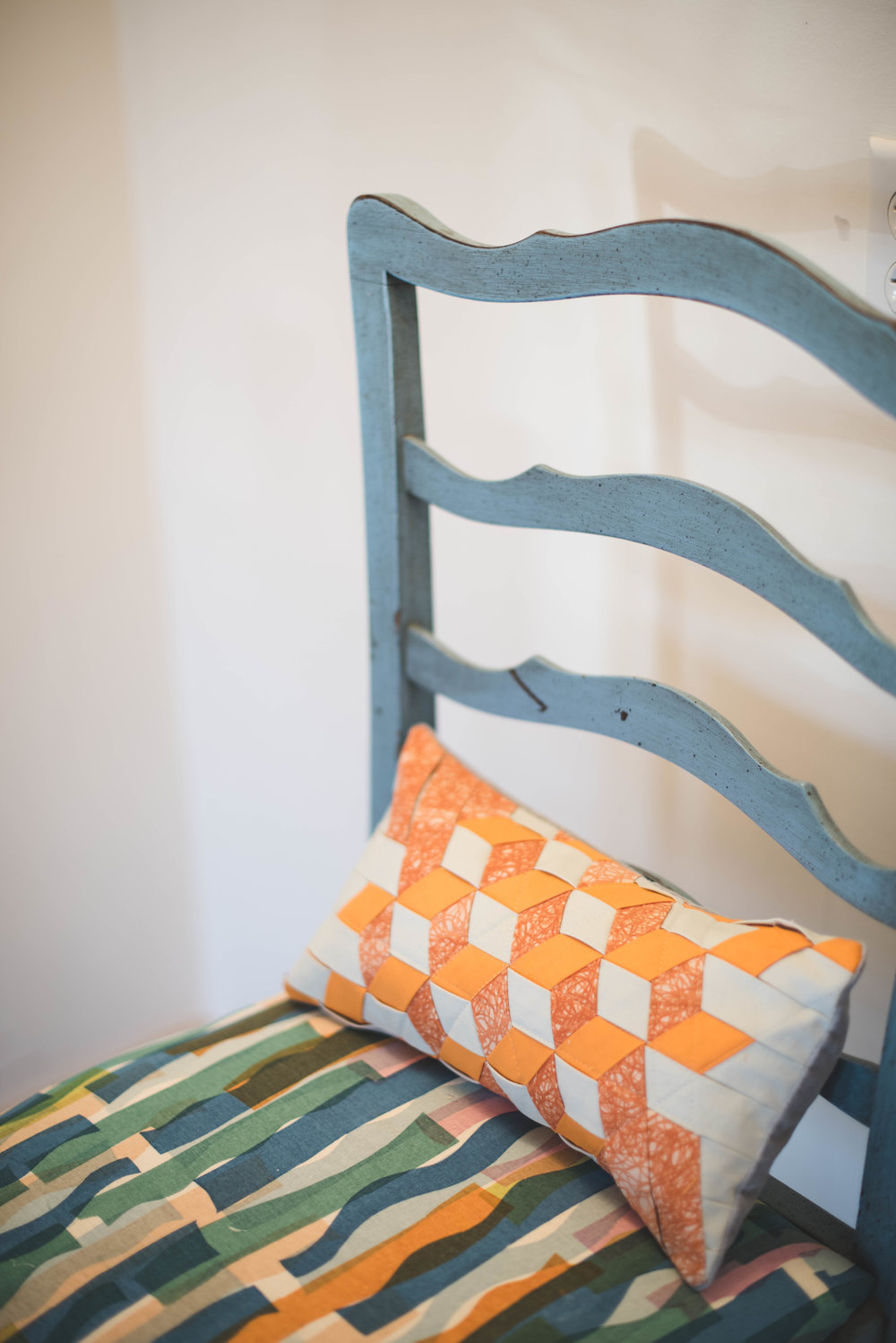 MNETextiles: screen printed fabrics and woven pillow