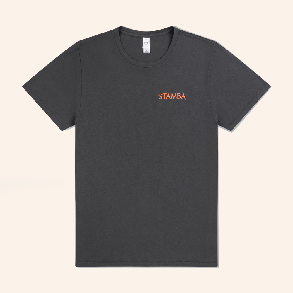 Men's Active T - Organic cotton embroidered logo T.$35