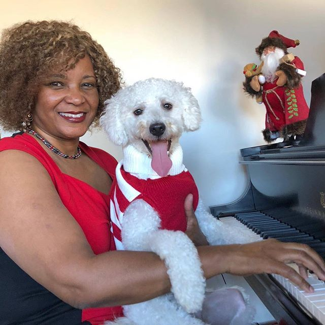 Roscoe and me wishing you a happy holiday season. #dogs #musictherapy #ilovemydog #kennels #cats #musicforthesoul #pets #doggydaycare #bachfordogs