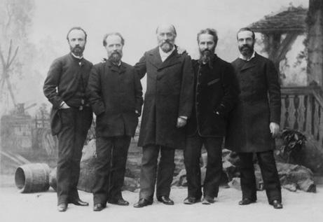Paul Reclus, Élisée Reclus, Onésime Reclus, Élie Reclus und Armand Reclus