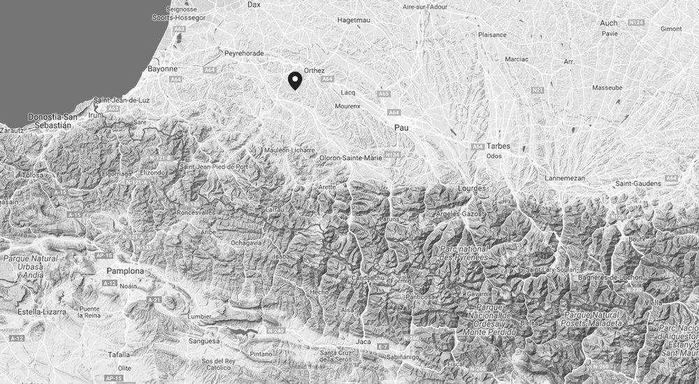 Karte Südwestfrankreich