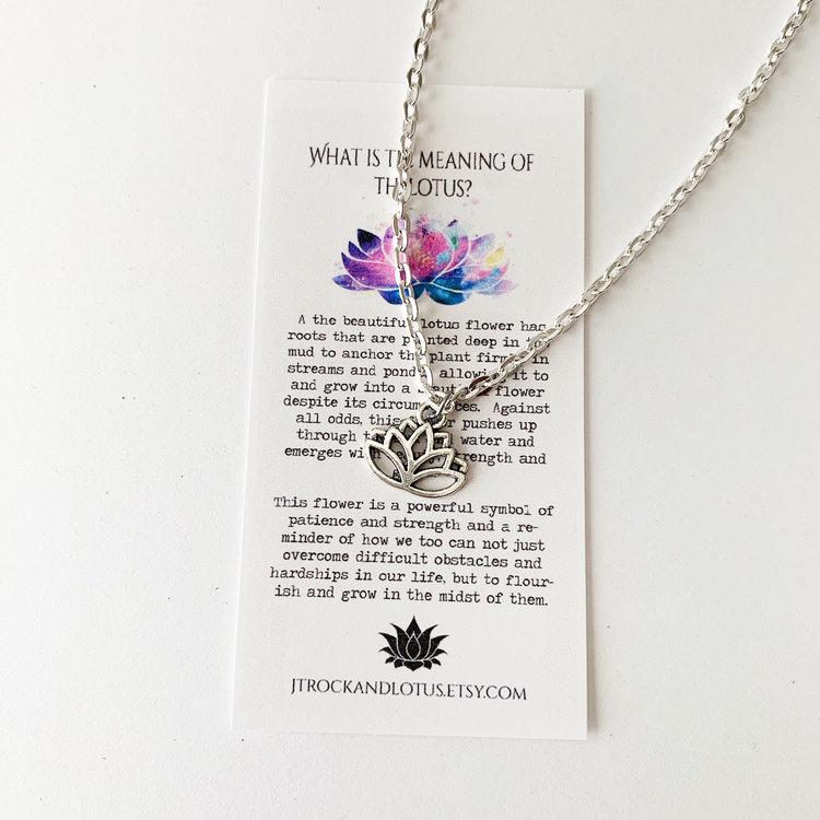 The Mighty Lotus Charm Necklace Joshua Tree Rock Lotus