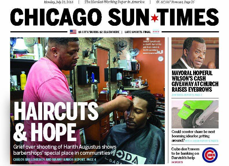 - Carlos Ballesteros and Manny Ramos have been covering parts of Chicago's west and south sides that have been ignored for years (except when there's a murder) for the Chicago Sun-Times.