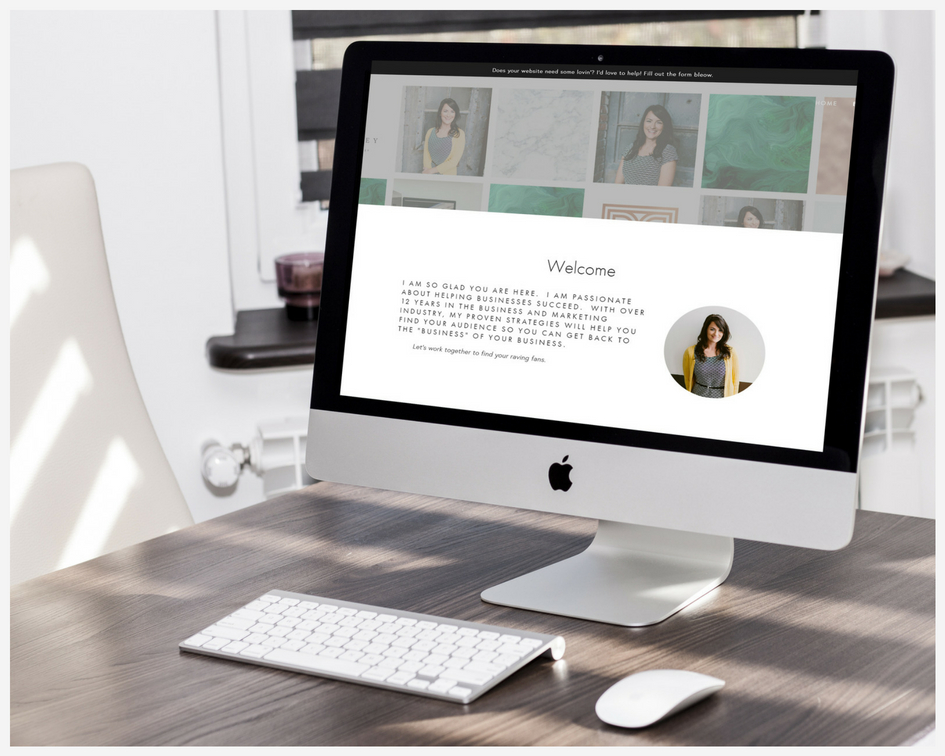 Lori Ivey Website Mockup