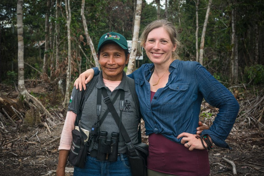 ILCP  videographer and photographer  Morgan Heim  on assignment with WhereNext's local fixer in Mitu, Amazonas.