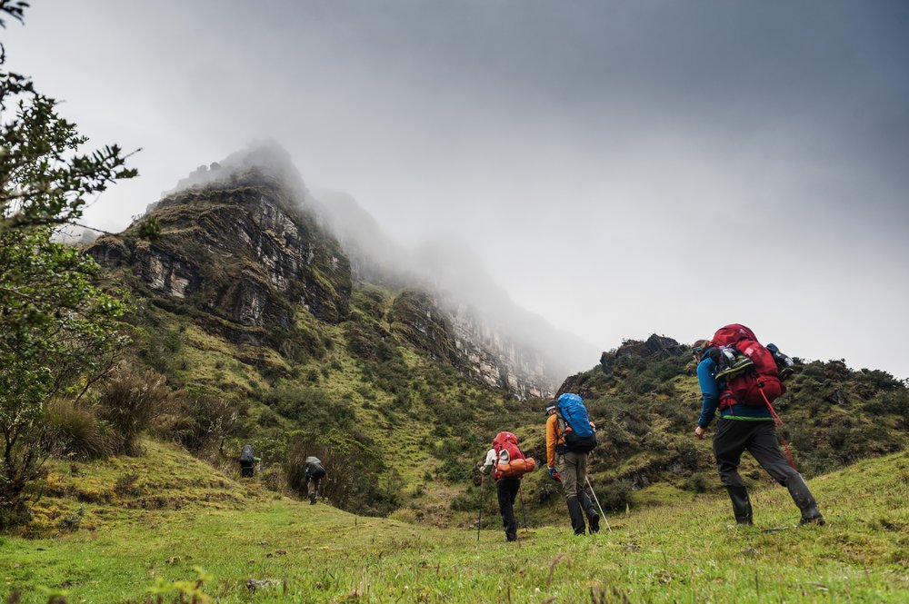 Trekking into the mist on the Colombian Páramo.