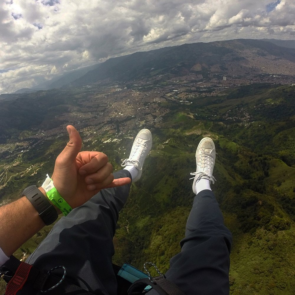Feet Dangling Over Medellin.