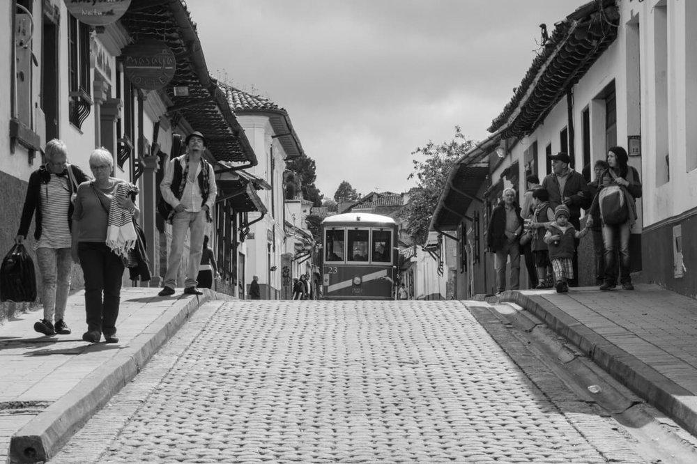 La Candelaria in the historic center of Bogotá
