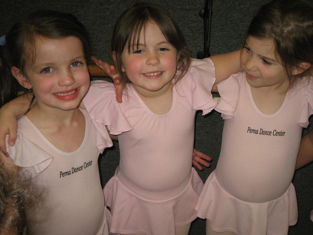 Pink Uniform LeotardPink TightsProper Dance ShoesHair Pulled Back - Black capri leggings required for Hip-Hop