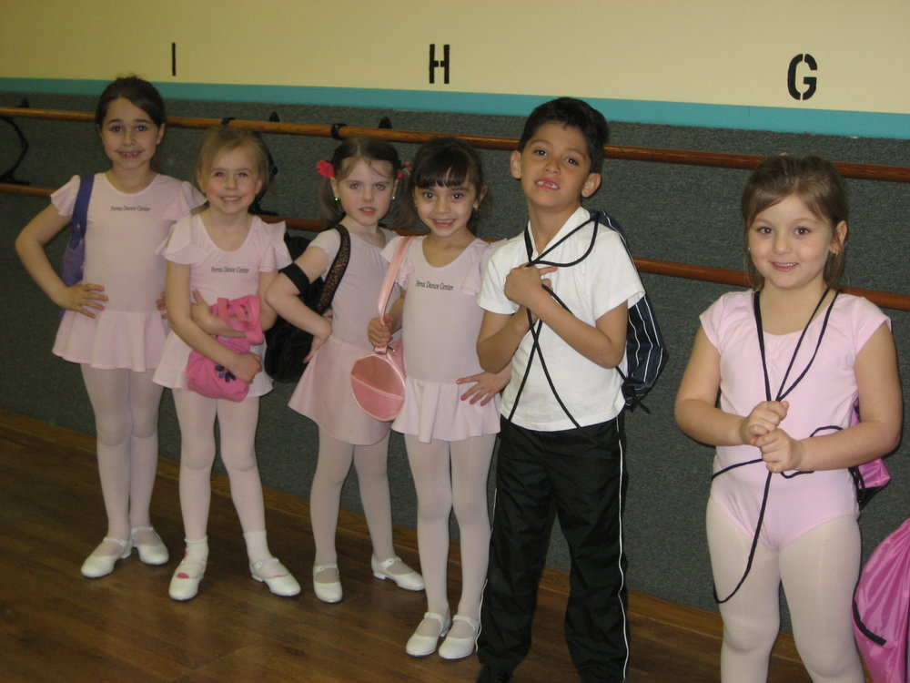 White Tee ShirtBlack PantsBlack Dance Shoes -
