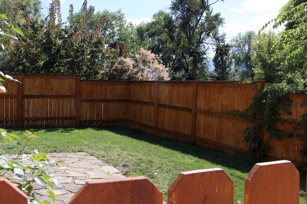 Customized Cedar Fencing for Backyard in Colorado Springs