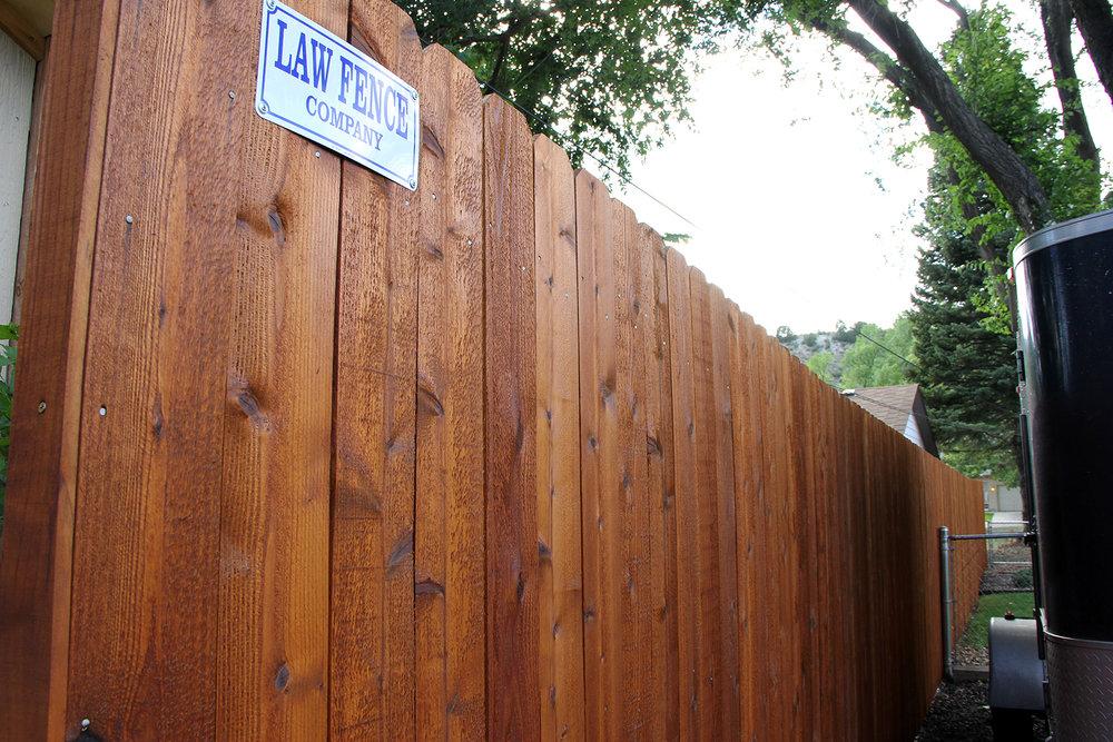 Law Fence Custom Cedar Fence in Colorado Springs