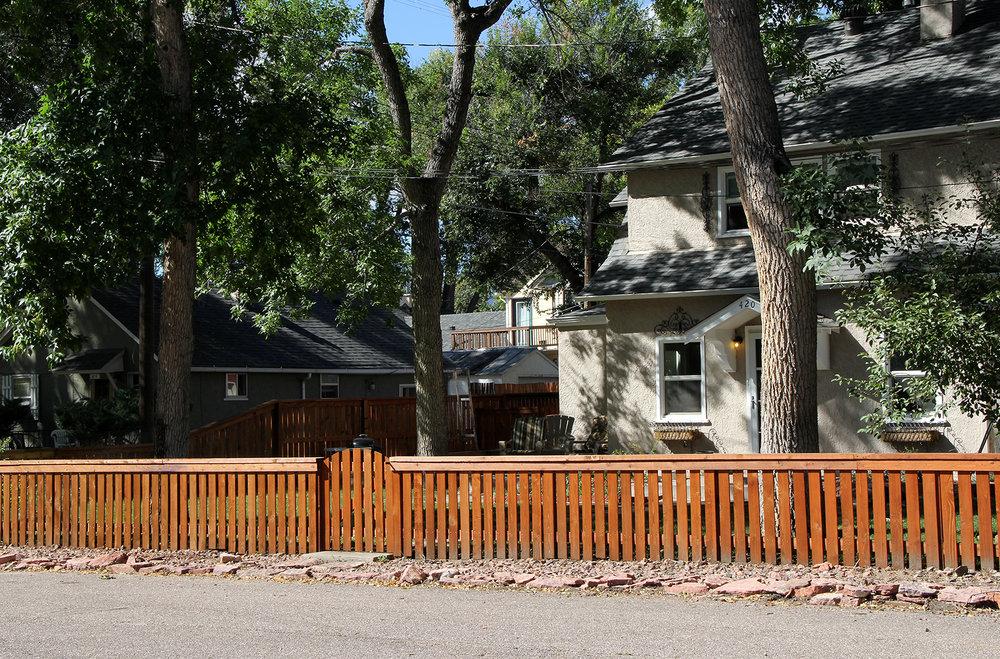 Custom Cedar Fence for Front Yard in Colorado Springs
