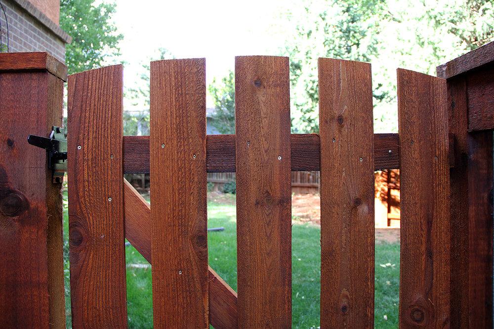 Cedar Fence and Custom Gate in Colorado Springs