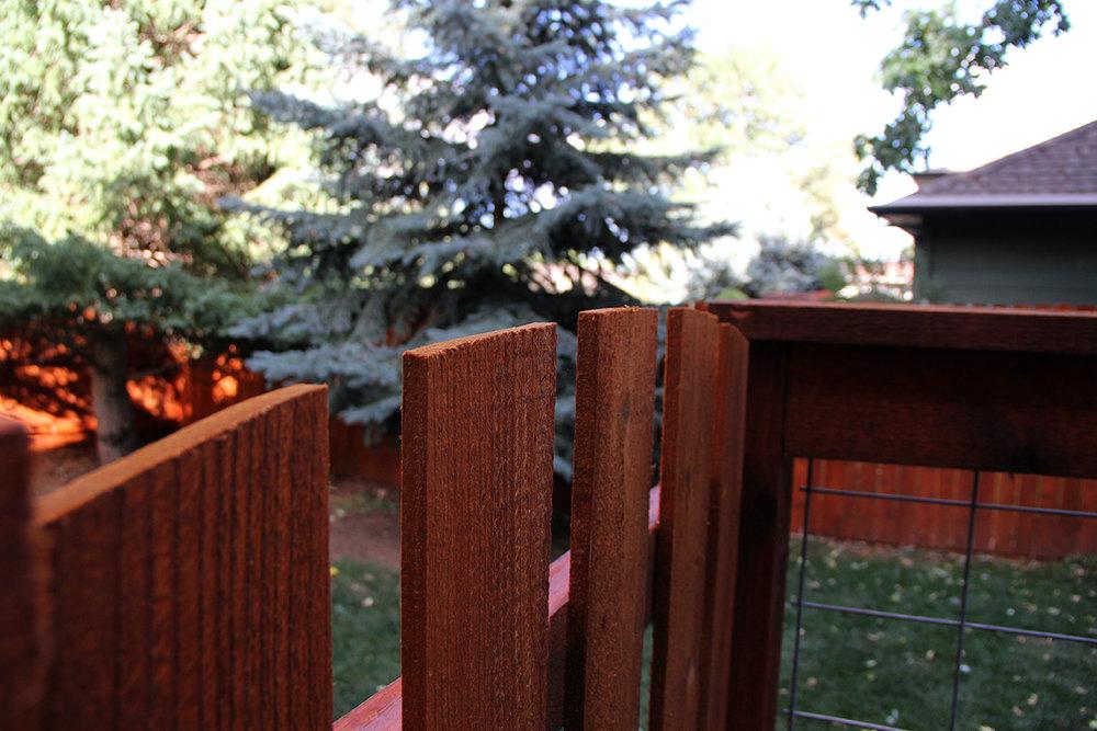 Custom Fence and Cedar Gate in Colorado Springs