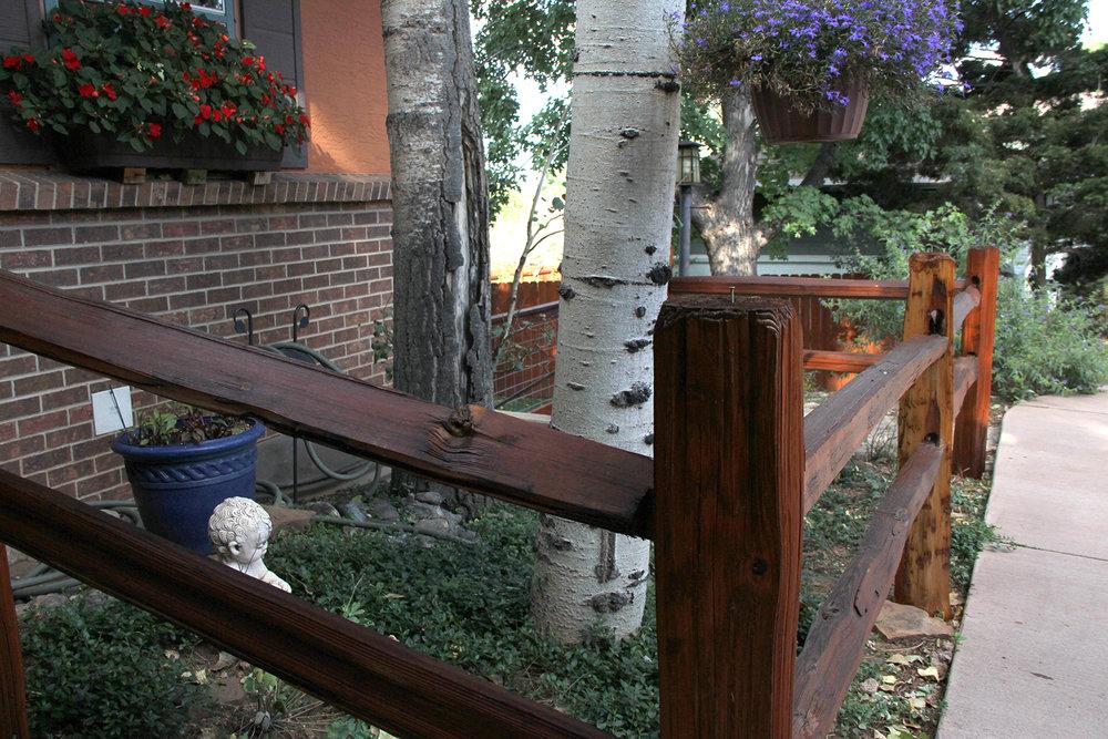Custom Split Rail Fence in Colorado Springs