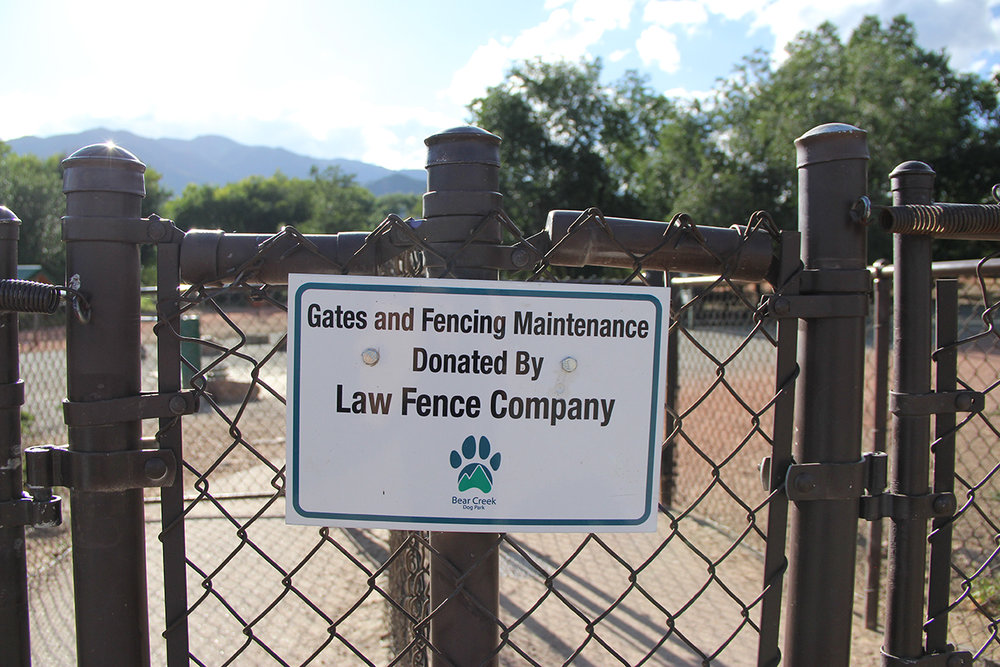 Donated Fence and Gate to Colorado Springs Community