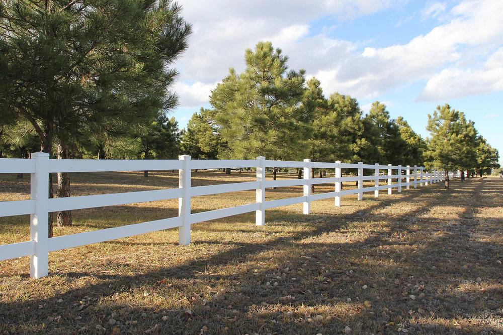 Vinyl Custom Fence in Colorado Springs
