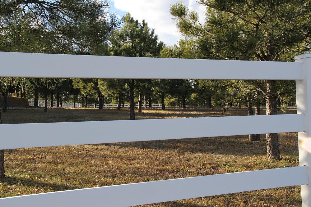Vinyl Customized Fence in Colorado Springs