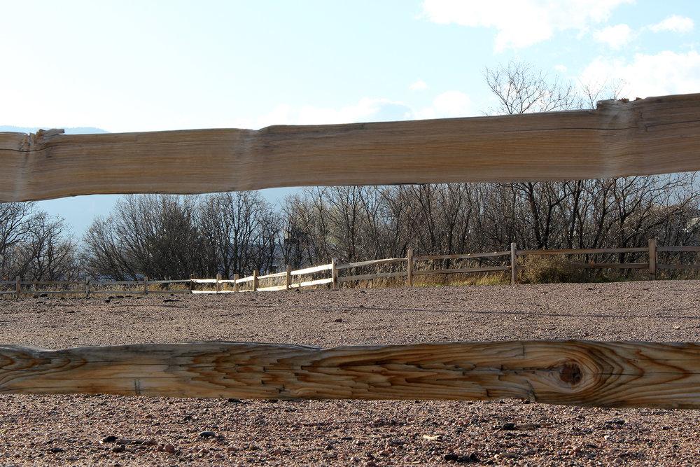 Split Rail Doweled Custom Fence in Colorado Springs