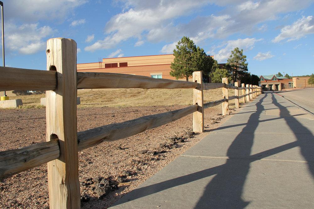 Doweled Custom Fence in Colorado Springs