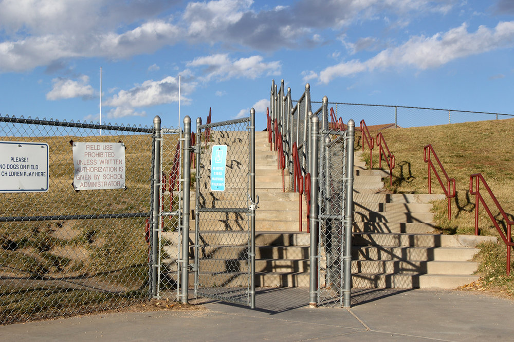 Custom Chain Link Fence with Gate and Custom Handrail Colorado Springs