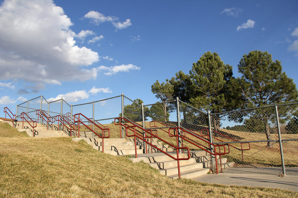 Colorado Springs Chain Link Fence with Custom Handrail